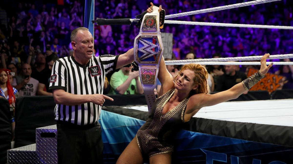 Becky vs Charlotte-The Champ
